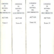 Libros de segunda mano: CONGRESO DE HISTORIA DEL DESCUBRIMIENTO (1492-1556). ACTAS. 4 VOLS. MADRID, 1992.. Lote 21352260