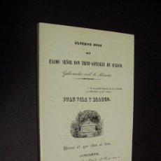 Libros de segunda mano: ÚLTIMOS DIAS DEL GOBERNADOR CIVIL DE ALICANTE - FACSIMIL 1854. Lote 35328513
