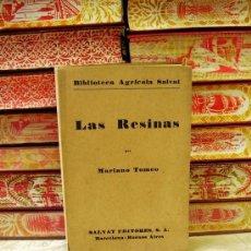 Libros de segunda mano: LAS RESINAS . AUTOR : TOMEO, MARIANO. Lote 35328758