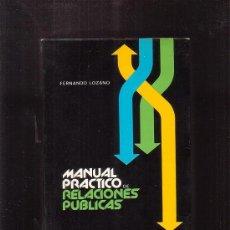 Libros de segunda mano: MANUAL PRACTICO DE RELACIONES PUBLICAS / AUTOR: FERNANDO LOZANO - DEDICATORIA DEL AUTOR. Lote 35491782