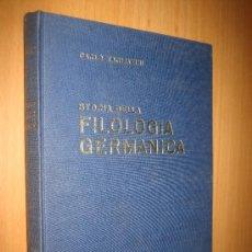 Libros de segunda mano: PANORAMA DI STORIA DELLA FILOLOGÍA GERMANICA - CARLO TAGLIAVINI - TEXTO EN ITALIANO. Lote 35708164