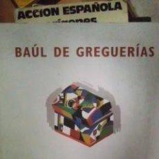 Libros de segunda mano: BAÚL DE GREGUERÍAS, DE CARLOS FLORES (CUENCA, 2006) DEDICATORIA DEL AUTOR. Lote 35994028