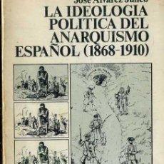 Libros de segunda mano: ÁLVAREZ JUNCO : LA IDEOLOGÍA POLÍTICA DEL ANARQUISMO ESPAÑOL 1868/1910 (SIGLO VEINTIUNO, 1976). Lote 36013050