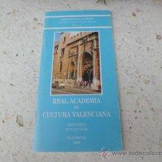 Libros de segunda mano: LIBRO R. ACADEMIA DE CULTURA VALENCIANA SERIE DIVULGACION Nº 2 HISTORIA ESTATUTOWS 1994 L-1430/39. Lote 36084224