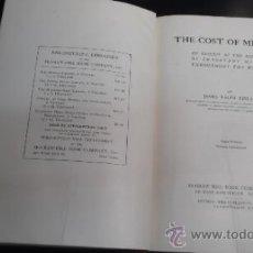 Libros de segunda mano: THE COST OF MINING; ... (1909) AUTHOR: FINLAY, JAMES RALPH. Lote 36088871