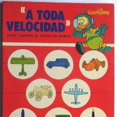 Libros de segunda mano: A TODA VELOCIDAD / WALT DISNEY / AUTOS Y AVIONES DE TODOS LOS TIEMPOS / ED.SUSAETA 1977. Lote 36147941
