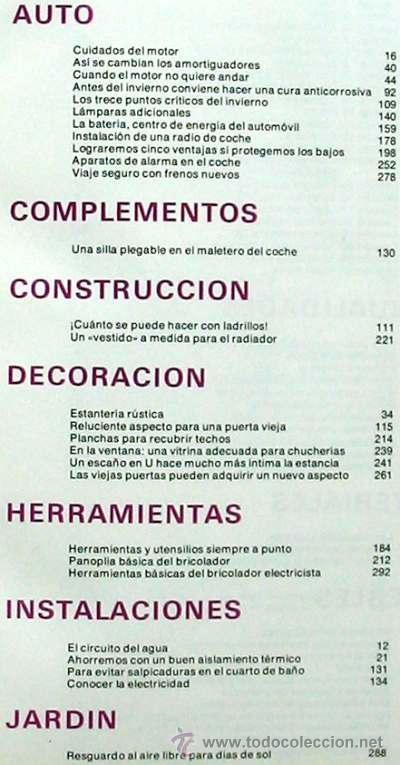 Libros de segunda mano: ENCICLOPEDIA SALVAT DEL BRICOLAJE - COMPLETA - 10 TOMOS + 1 TRABAJOS ARTÍSTICOS - VER ÍNDICES - Foto 3 - 36241286