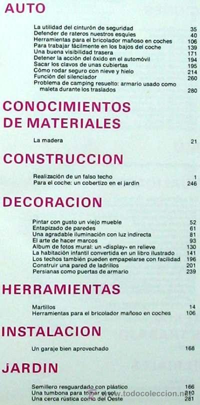 Libros de segunda mano: ENCICLOPEDIA SALVAT DEL BRICOLAJE - COMPLETA - 10 TOMOS + 1 TRABAJOS ARTÍSTICOS - VER ÍNDICES - Foto 6 - 36241286