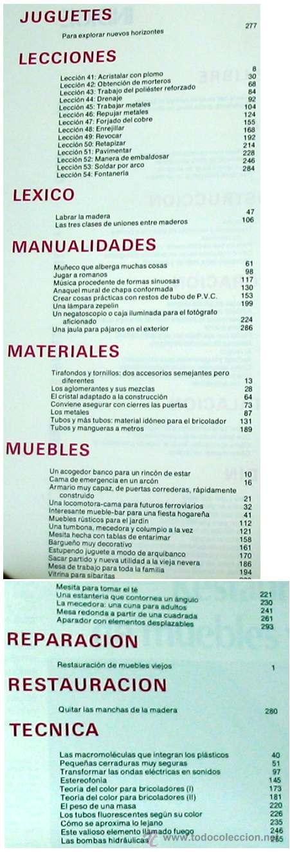 Libros de segunda mano: ENCICLOPEDIA SALVAT DEL BRICOLAJE - COMPLETA - 10 TOMOS + 1 TRABAJOS ARTÍSTICOS - VER ÍNDICES - Foto 10 - 36241286