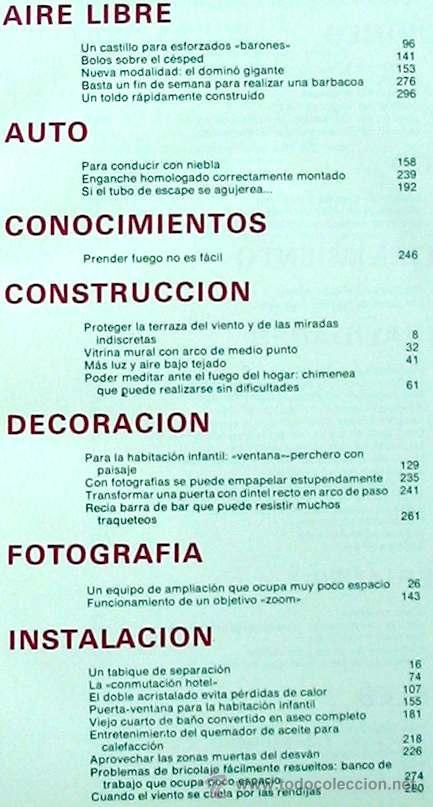 Libros de segunda mano: ENCICLOPEDIA SALVAT DEL BRICOLAJE - COMPLETA - 10 TOMOS + 1 TRABAJOS ARTÍSTICOS - VER ÍNDICES - Foto 11 - 36241286