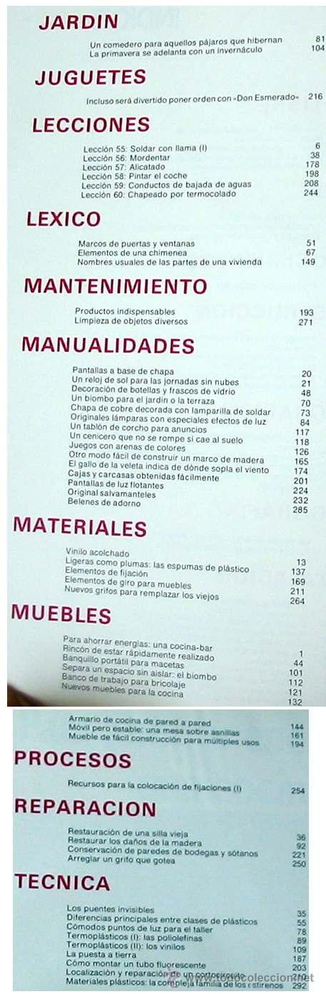 Libros de segunda mano: ENCICLOPEDIA SALVAT DEL BRICOLAJE - COMPLETA - 10 TOMOS + 1 TRABAJOS ARTÍSTICOS - VER ÍNDICES - Foto 12 - 36241286