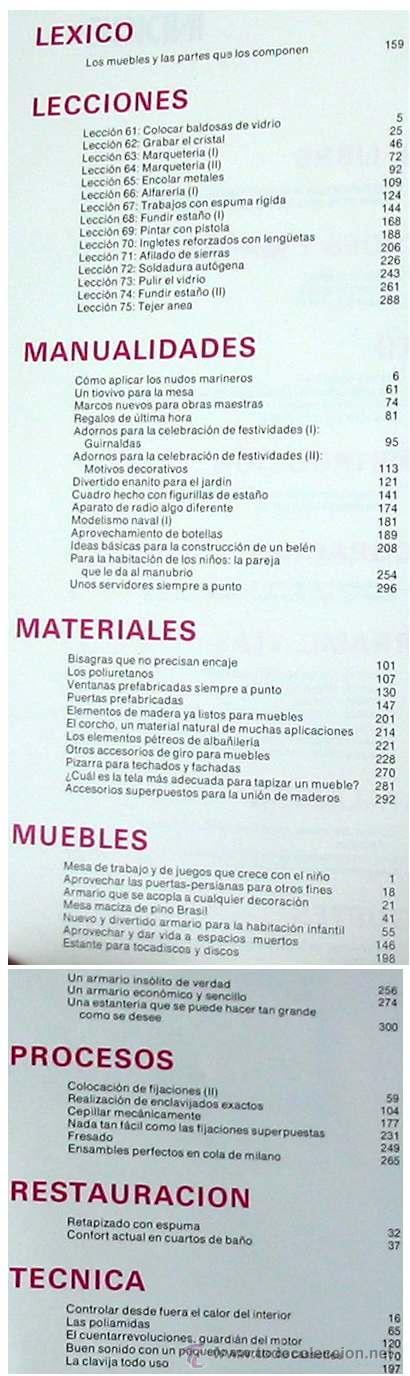 Libros de segunda mano: ENCICLOPEDIA SALVAT DEL BRICOLAJE - COMPLETA - 10 TOMOS + 1 TRABAJOS ARTÍSTICOS - VER ÍNDICES - Foto 14 - 36241286