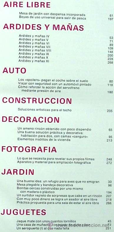 Libros de segunda mano: ENCICLOPEDIA SALVAT DEL BRICOLAJE - COMPLETA - 10 TOMOS + 1 TRABAJOS ARTÍSTICOS - VER ÍNDICES - Foto 15 - 36241286