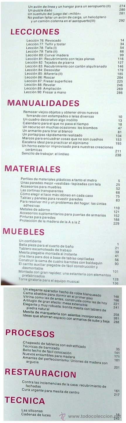 Libros de segunda mano: ENCICLOPEDIA SALVAT DEL BRICOLAJE - COMPLETA - 10 TOMOS + 1 TRABAJOS ARTÍSTICOS - VER ÍNDICES - Foto 16 - 36241286