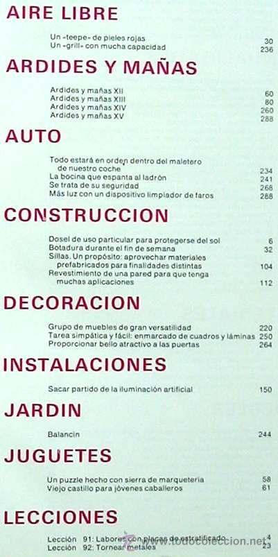 Libros de segunda mano: ENCICLOPEDIA SALVAT DEL BRICOLAJE - COMPLETA - 10 TOMOS + 1 TRABAJOS ARTÍSTICOS - VER ÍNDICES - Foto 17 - 36241286