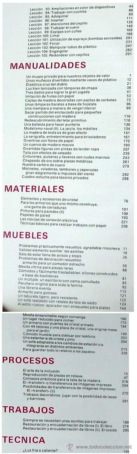 Libros de segunda mano: ENCICLOPEDIA SALVAT DEL BRICOLAJE - COMPLETA - 10 TOMOS + 1 TRABAJOS ARTÍSTICOS - VER ÍNDICES - Foto 18 - 36241286