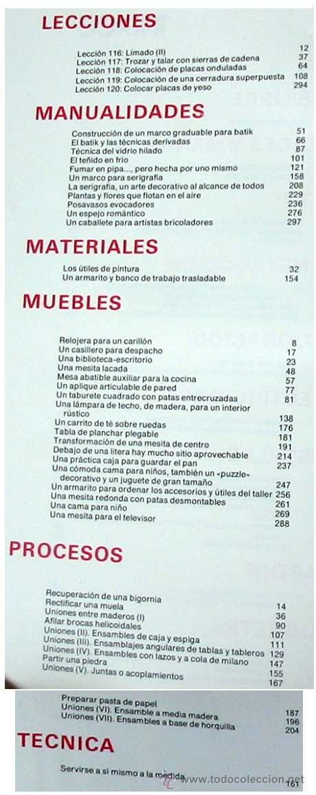 Libros de segunda mano: ENCICLOPEDIA SALVAT DEL BRICOLAJE - COMPLETA - 10 TOMOS + 1 TRABAJOS ARTÍSTICOS - VER ÍNDICES - Foto 22 - 36241286