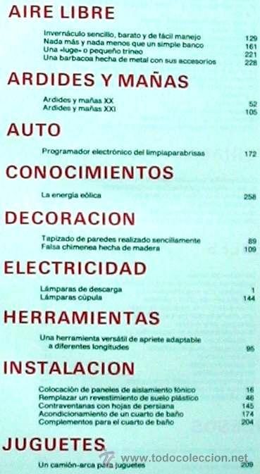 Libros de segunda mano: ENCICLOPEDIA SALVAT DEL BRICOLAJE - COMPLETA - 10 TOMOS + 1 TRABAJOS ARTÍSTICOS - VER ÍNDICES - Foto 23 - 36241286