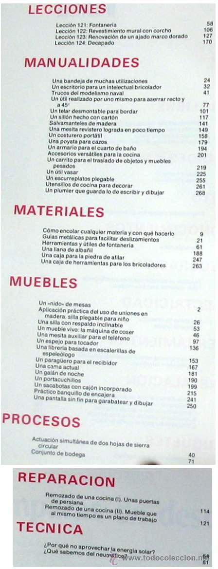 Libros de segunda mano: ENCICLOPEDIA SALVAT DEL BRICOLAJE - COMPLETA - 10 TOMOS + 1 TRABAJOS ARTÍSTICOS - VER ÍNDICES - Foto 24 - 36241286
