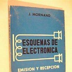 Libros de segunda mano: ESQUEMAS DE ELECTRÓNICA. EMISIÓN Y RECEPCIÓN. J. MORNAND. EDITORIAL PARANINFO 1970. Lote 36628020