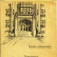 Libros de segunda mano: TAQUIMETRÍA. ESCUELAS INTERNACIONALES. Lote 36697785