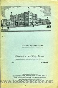 ELEMENTOS DE DIBUJO LINEAL. ESCUELAS INTERNACIONALES (Libros de Segunda Mano - Ciencias, Manuales y Oficios - Otros)