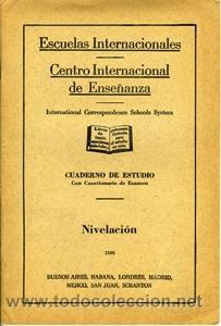 NIVELACIÓN. ESCUELAS INTERNACIONALES (Libros de Segunda Mano - Ciencias, Manuales y Oficios - Otros)