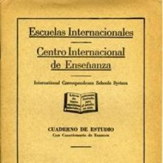 Libros de segunda mano: NIVELACIÓN. ESCUELAS INTERNACIONALES. Lote 36698216