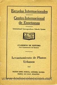LEVANTAMIENTO DE PLANOS URBANOS. ESCUELAS INTERNACIONALES (Libros de Segunda Mano - Ciencias, Manuales y Oficios - Otros)