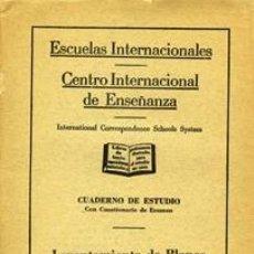 Libros de segunda mano: LEVANTAMIENTO DE PLANOS URBANOS. ESCUELAS INTERNACIONALES. Lote 36698390