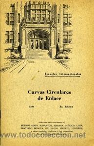CURVAS CIRCULARES DE ENLACE. ESCUELAS INTERNACIONALES (Libros de Segunda Mano - Ciencias, Manuales y Oficios - Otros)