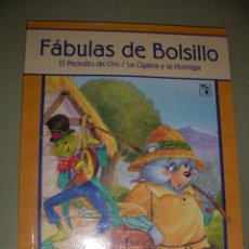Libros de segunda mano: FABULAS DE BOLSILLO - EL PECECILLO DE ORO - LA CIGARRA Y LA HORMIGA (EM2). Lote 36833669