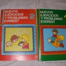 Libros de segunda mano: ANTIGUOS LIBROS NUEVOS EJERCICIOS Y PROBLEMAS EVEREST. Lote 37018895