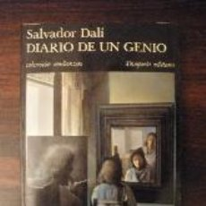 Libros de segunda mano: DIARIO DE UN GENIO -- SALVADOR DALÍ -- BARCELONA, TUSQUETS, 1984 (2ª EDICIÓN).. Lote 37275752