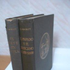 Libros de segunda mano: EL ARTE EN ROMA (T1), EL PAPADO Y EL VATICANO, EL AÑO SANTO (TII). (2 TOMOS). Lote 37010899