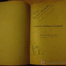 Libros de segunda mano: PRIMERAS MATERIAS NATURALES - EDUARDO VILLEGAS - LIBRO ANTIGUO. Lote 37059079