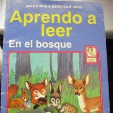 Libros de segunda mano: APRENDO A LEER. EN EL BOSQUE. LIBÉRICA, 1993. + REGALO: OTRO DE LA MISMA COLECCIÓN.. Lote 37185394