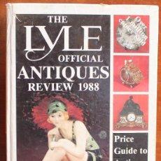 Libros de segunda mano: THE LYLE OFFICIAL ANTIQUES REVIEW 1988 – TONY CURTIS –LA MAS AMPLIA GUIA PRECIOS PARA COLECCIONISTAS. Lote 37209882