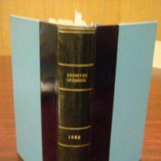 Libros de segunda mano: ARCHIVOS LEONESES. Nº:11ºY12º. 1952.1 VOL. REVISTA ESTUDIO Y DOCUMENTA.DE REINOS HISPANO-OCCIDENTALE. Lote 37230824