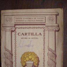 Libros de segunda mano: CARTILLA METODO DE LECTURA - SEIX & BARRAL - AÑO 1941. Lote 37308013
