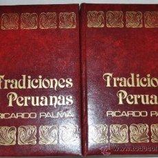 Libros de segunda mano: TRADICIONES PERUANAS. TOMO I Y III. DOS TOMOS. RICARDO PALMA RM62153. Lote 228470885