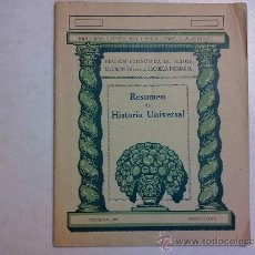 Libros de segunda mano: LIBRO REVISTA ,RESUMEN DE LA HISTORIA UNIVERSAL. Lote 37430693