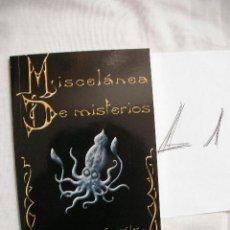 Libros de segunda mano: MISCELANEA DE MISTERIOS - JOSE GREGORIO GONZALEZ. Lote 37513041