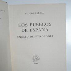 Libros de segunda mano: CARO BAROJA,J.: LOS PUEBLOS DE ESPAÑA. ENSAYO DE ETNOLOGÍA. (1946). Lote 37614559