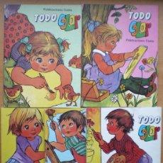 Libros de segunda mano: TODO COLOR GAMA 1986 COLECCIÓN DE 5 NÚMEROS PARA COLOREAR CON PRECIOSOS DIBUJOS. Lote 37556428