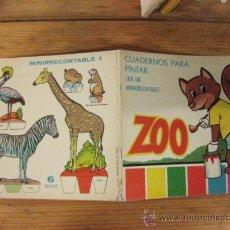 Second hand books - CUADERNOS PARA PINTAR ZOO CON MINI RECORTABLE Nº 4. EDICIONES TORAY 1968. - 37643291