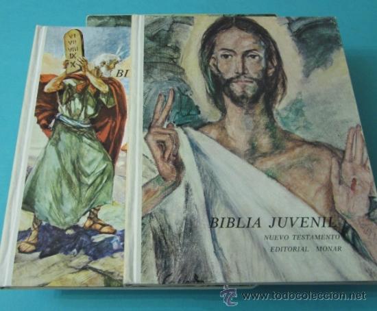 BIBLIA JUVENIL. TOMO I - ANTIGUO TESTAMENTO. TOMO II - NUEVO TESTAMENTO (Libros de Segunda Mano - Literatura Infantil y Juvenil - Otros)