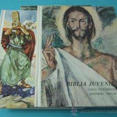 Libros de segunda mano: BIBLIA JUVENIL. TOMO I - ANTIGUO TESTAMENTO. TOMO II - NUEVO TESTAMENTO. Lote 37742276