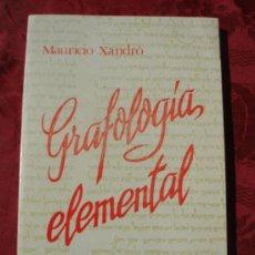 Livres d'occasion: GRAFOLOGIA ELEMENTAL. MAURICIO XANDRO. STVDIVM. Lote 37856458