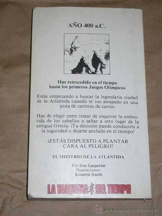 Libros de segunda mano: LA MAQUINA DEL TIEMPO Nº 8 EL MISTERIO DE LA ATLANTIDA. GASPERINI, SMITH. LIBRO JUEGO TIMUN MAS 1985 - Foto 3 - 206961998